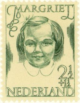 Nederland Stamp 1946 | S.L. Hartz | groen | prinses Margriet