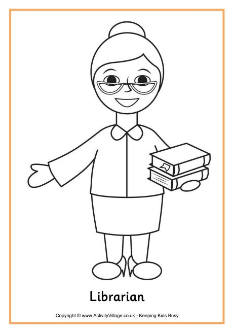 coloring pages librarian - photo#27