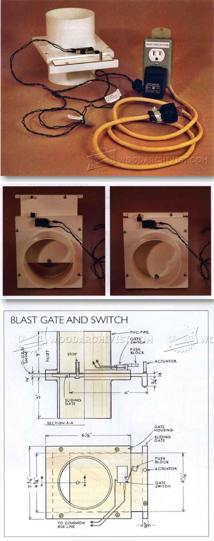 Dust Collection Blast Gate Controls - Dust Collection Tips, Jigs and Fixtures | WoodArchivist.com
