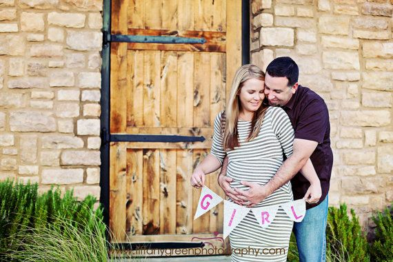 Girl Burlap Banner / Maternity Photography Prop by nhayesdesigns, $18.00