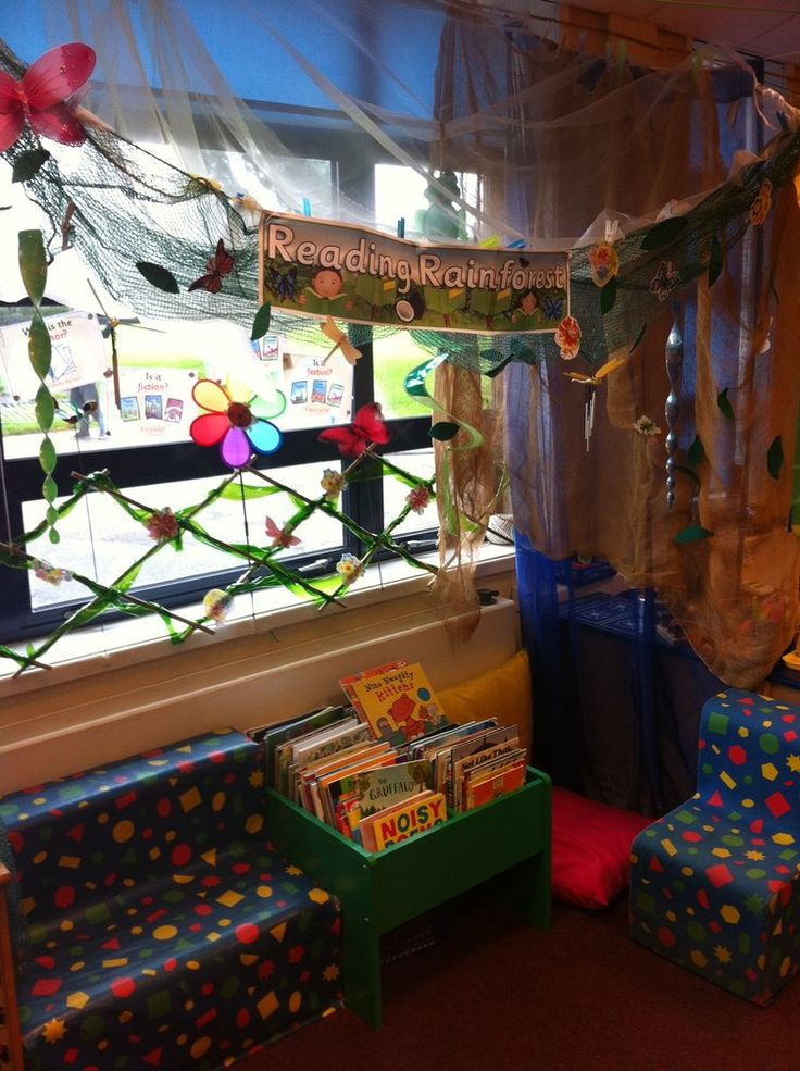 Corner Exhibition Stands Quiz : Reading rainforest display class book corner