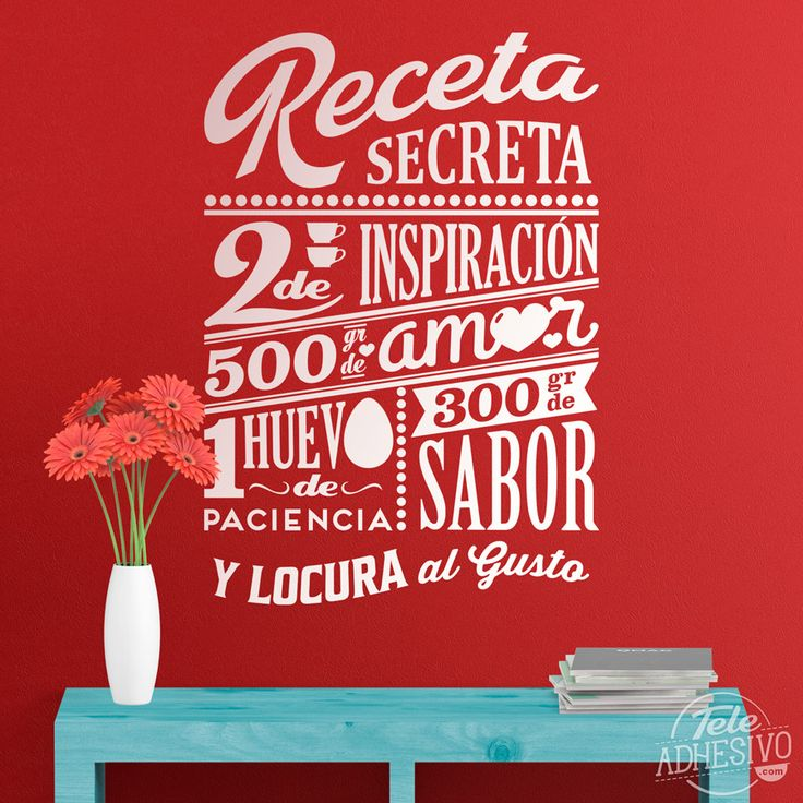 The 25 best frases cocinero ideas on pinterest frases for Vinilos decorativos textos