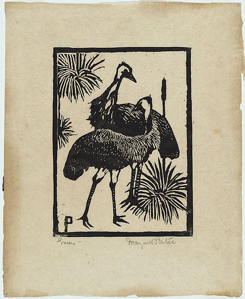 Margaret Preston - Emus