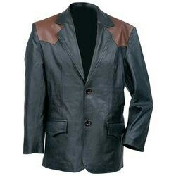 Rocky Mountain Hides™ Western-Style Solid Genuine Cowhide Leather Sport Jacket