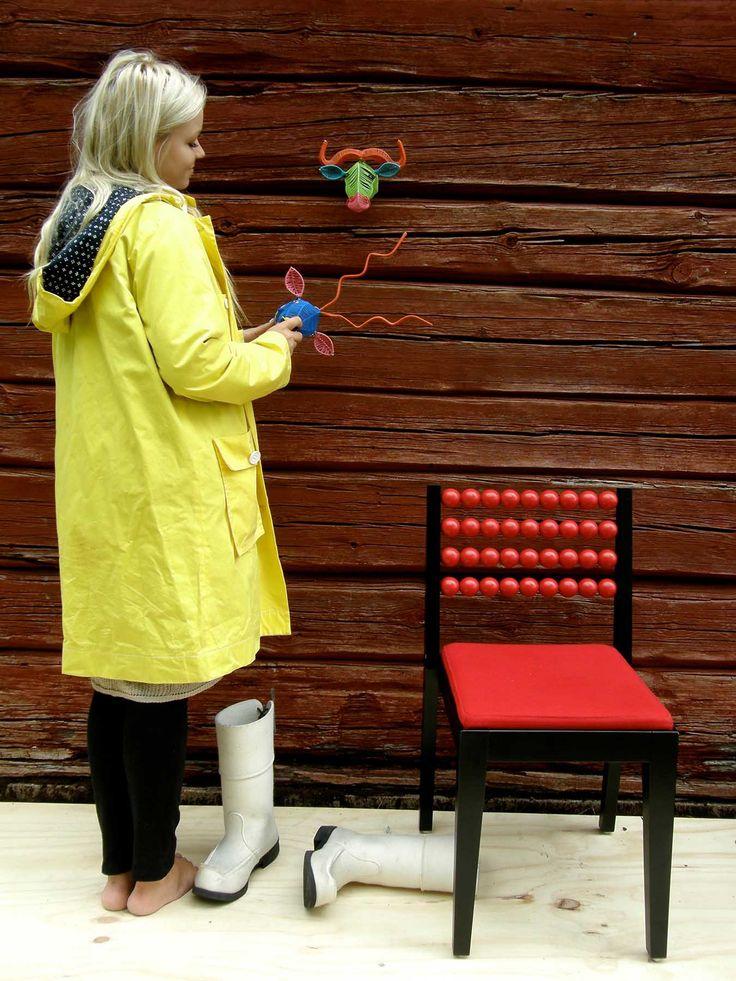 Mum's-girl with yellow jacket.