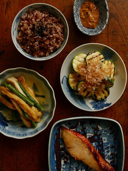 Japanese set meal with Miso Marinated Red Snapper