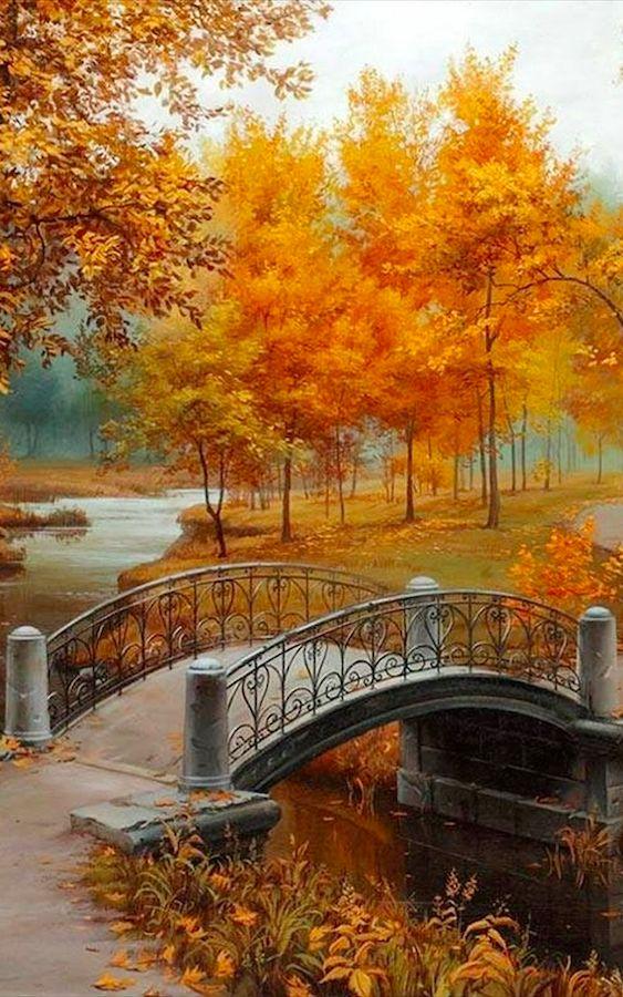 Autumn in the park • artist: Evgeny Lushpin
