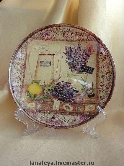 """Тарелки ручной работы. Ярмарка Мастеров - ручная работа """"Прованс"""" тарелочка для уютной кухни. Handmade."""