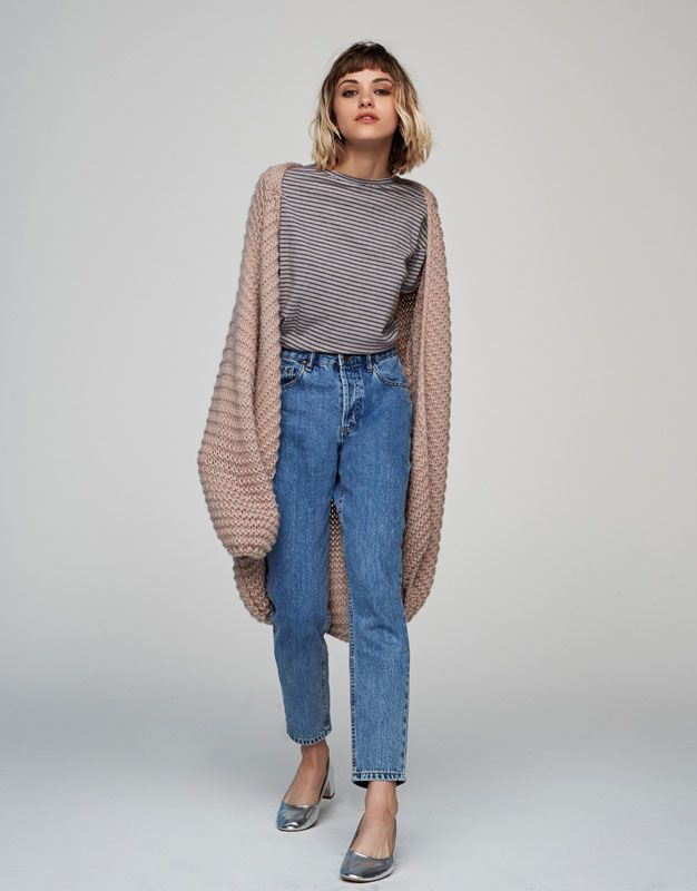 Pull&Bear - ženy - oděvy - trička - basic striped t-shirt - grey - 05237378-V2017