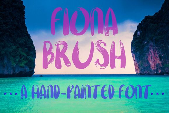 Fiona Brush, A Hand-Painted Font by Chateau Petit on Creative Market