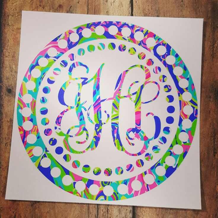 I'm always adding new Lilly inspired patterns, check out my selection today. They can be used on any of my decal designs. Monogram frames, monogram decal, Lilly decal, Yeti decal, phone decals