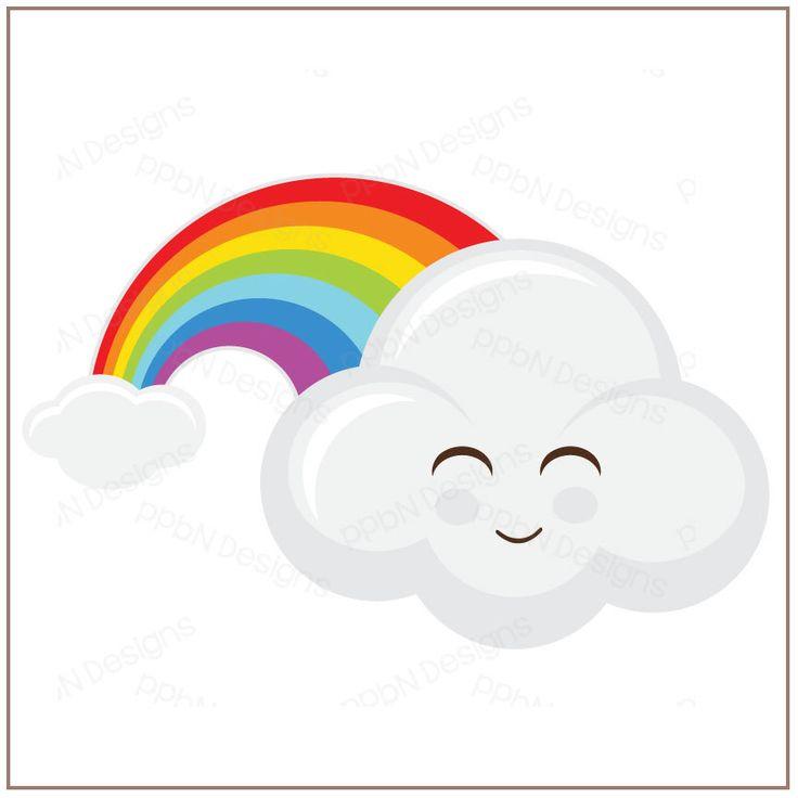 PPbN Designs - Happy Rainbow Cloud SVG, SVG files, cutting files, cricut explore, silhouette cameo