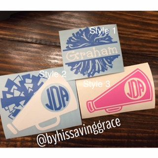 Cheerleading Decals by ByHisSavingGrace on Etsy