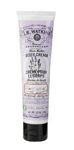 J.R. Watkins Body Cream, Lavender, 3.3-Ounce Tubes (Pack of 4) by J.R. Watkins. $22.72. All hand & body lotions are 99.0% natural. Non-greasy formula contains panthenol (vitamin B5) and natural shea and cocoa butters. Relieves chafed chapped and dry skin. Committed to being America's most trusted natural products company since 1868, Watkins adheres strictly to the same quality standards set forth by its founder J.R. Watkins. J.R. Watkins Natural Apothecary line ...