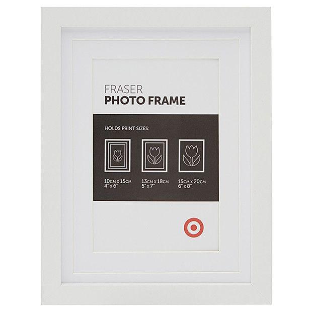 fraser 15 x frame white target australia