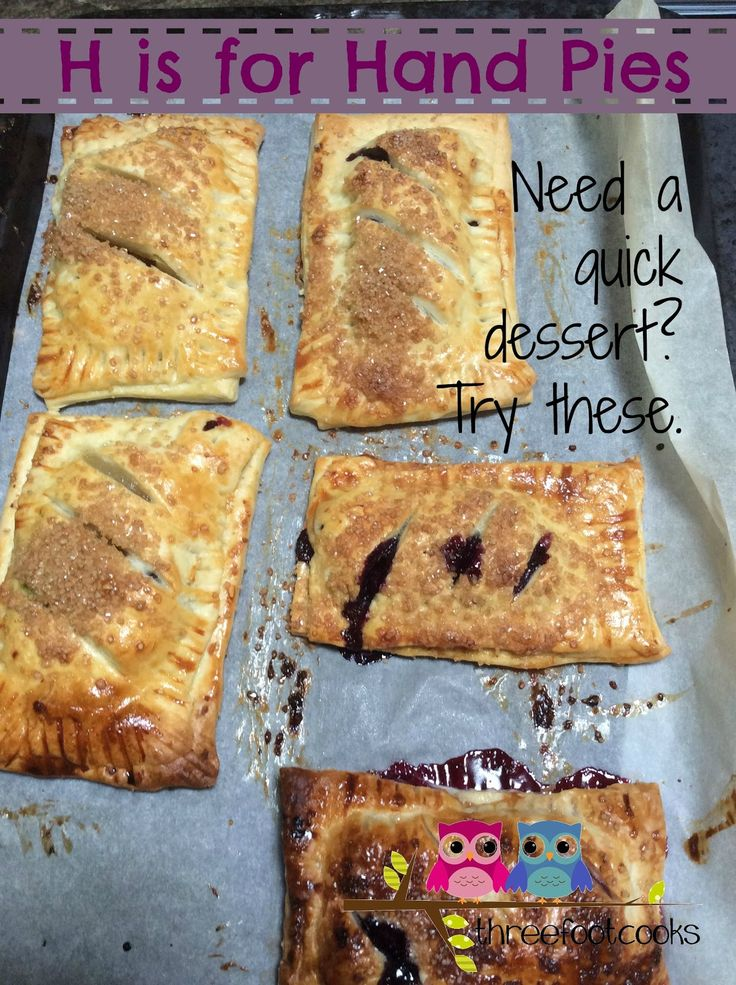 H is for Hand Pies - a quick and easy dessert : threefootcooks