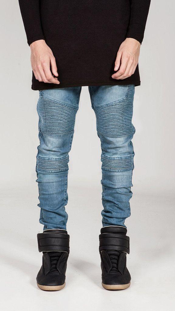 REPRESENT CLOTHING WRAITH BIKER JEANS / BLUE STONE WASH - 28