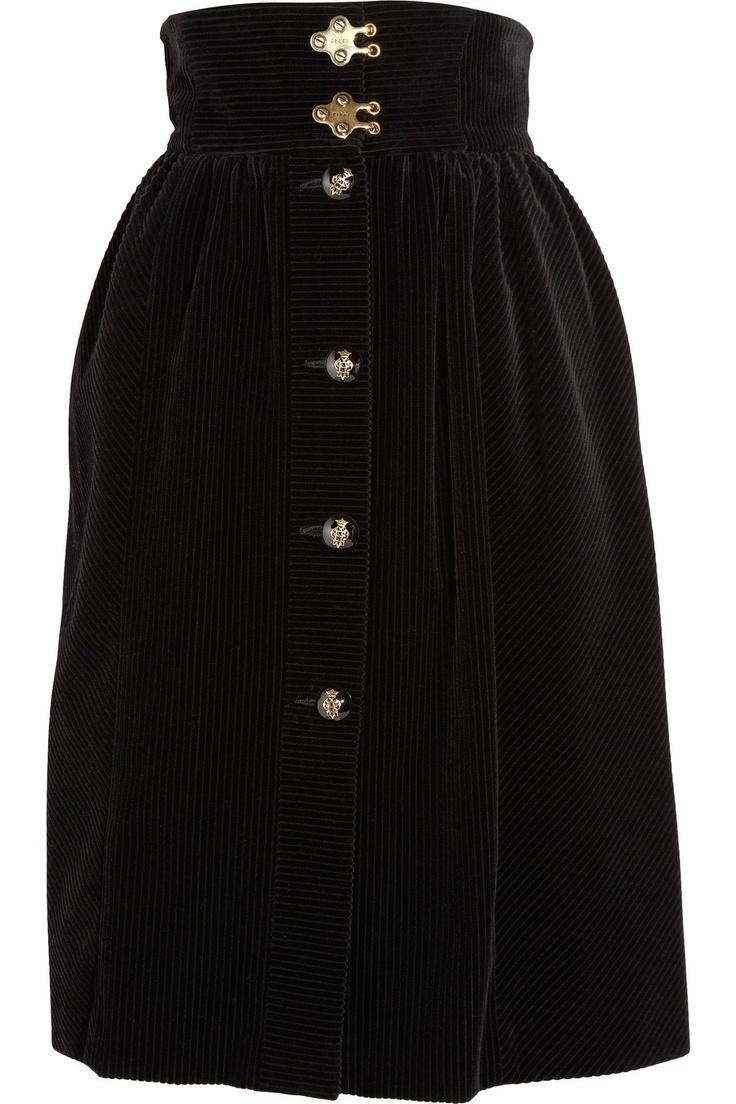 emilio pucci high-waisted corduroy skirt.