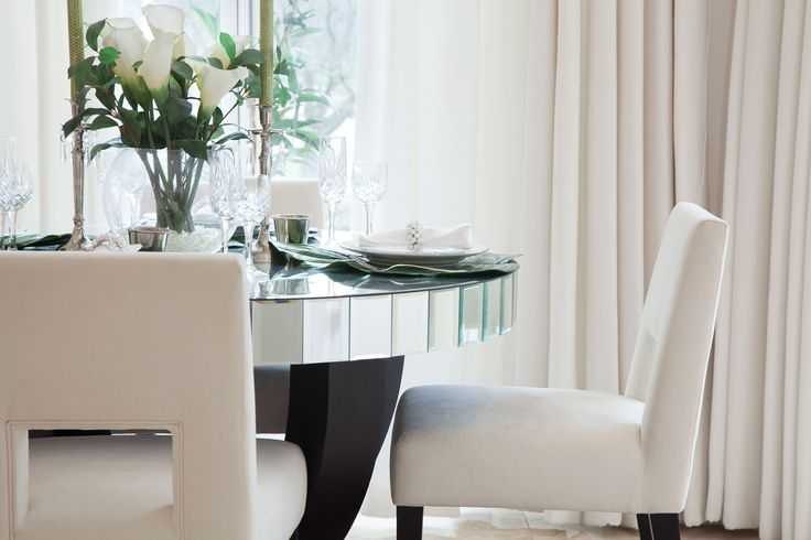 Luxury Dining Room Interior Overlooking Hyde Park | JHR Interiors