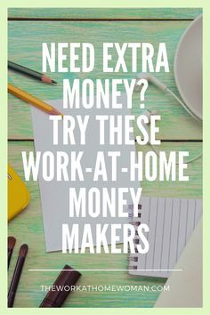Do you need extra cash? Are you looking for flexible and work from home opportunities and ideas? Here are a bunch of work-at-home money making ideas to try on for size.