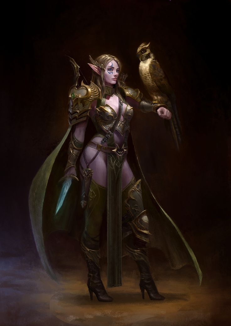 ArtStation - Moonlight Elf Ranger, Yoon Seseon