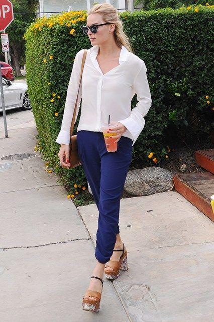 Margot Robbie's first class fashion