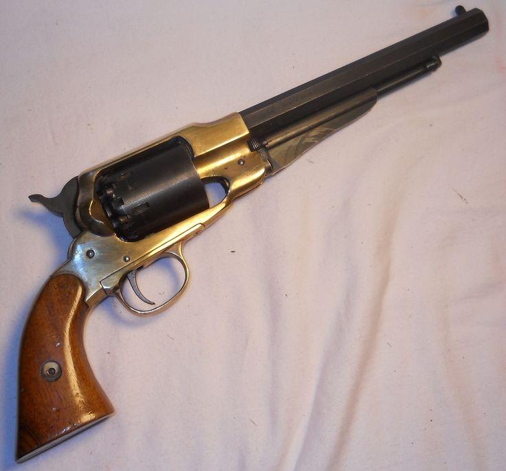 My 1858 Remington New Army .44 Caliber Brass Frame Black Powder Pistol