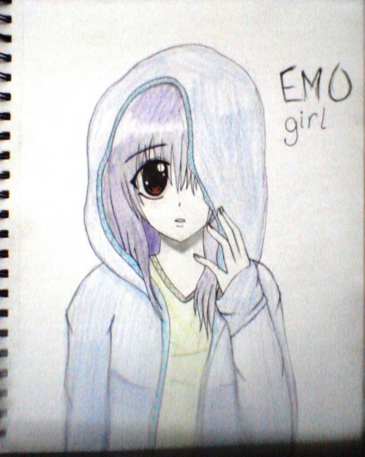 This one is a lil bit older but i still like it emo anime girl find this pin and more on easy anime drawing ideas