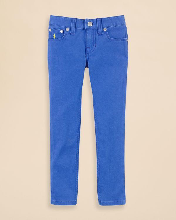 Ralph Lauren Childrenswear Girls' Colored Denim Pants - Sizes 2-6X