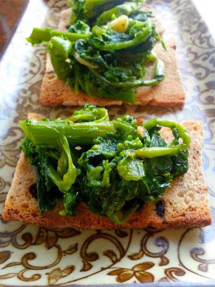 broccoli rabe cracker