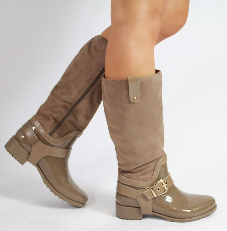 Larena Fashion - Suede Wellington Boots Beige, £9.99 (http://larenafashion.co.uk/suede-wellington-boots-beige/)