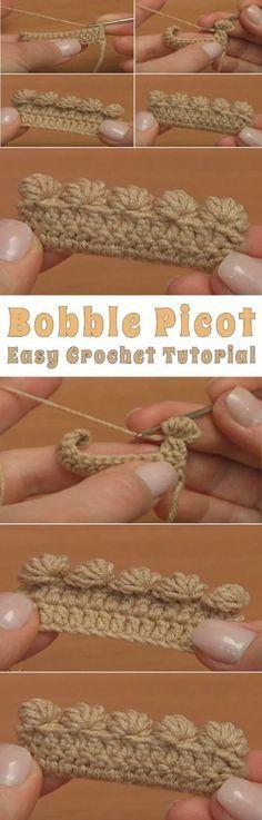 Bobble Picot Easy Crochet Tutorial