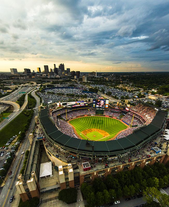 Check out this aerial shot of Turner Field from June 28, 2013! (Photo by Pouya Dianat/Atlanta Braves)