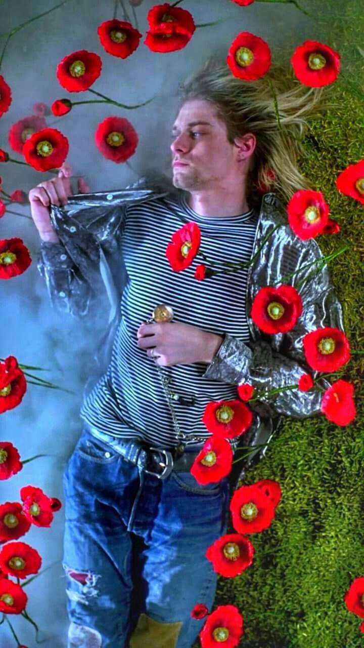 "Kurt Cobain in Nirvana's ""Hear-Shaped Box"" video  sideways, but cool anyway"