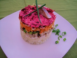 Russian Herring Layered Salad | Russian home cooking recipes