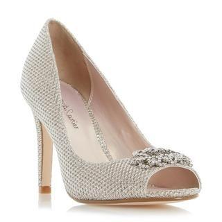 ROLAND CARTIER LADIES DEENA - Peep Toe Brooch Detail Court Shoe - gold | Dune Shoes Online