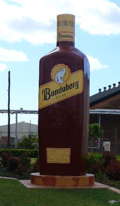 The Bundaberg Rum plant in Queensland is home to the Biggest Bottle of Bundaberg Rum - 23 feet tall!