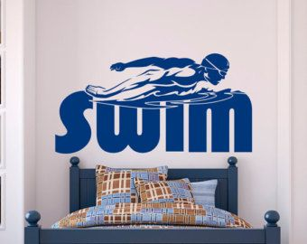 Sports Wall Decal Stickers Swim Swimming Pool by FabWallDecals