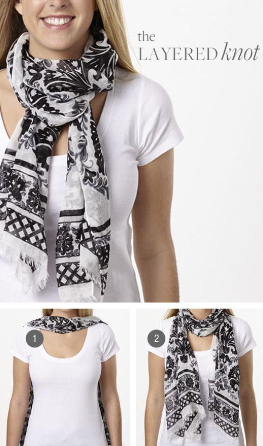 scarf tying ideas in official vera bradley