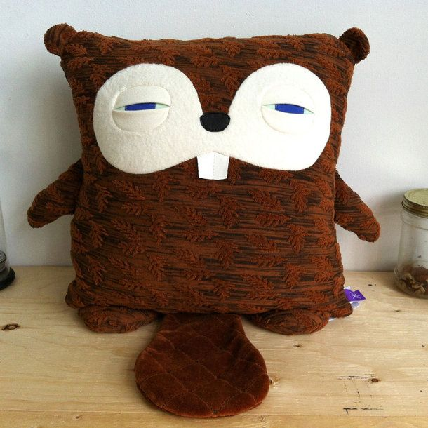 sleepy Beaver pillow by Velvet Moustache - love!
