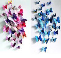 Darmowa wysyłka 12 sztuk PCV 3d Motyl Motyle naklejk...