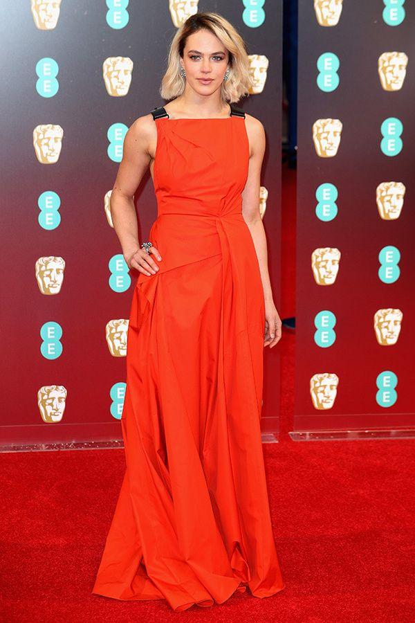 Jessica Brown-Findlay in Bottega Veneta at BAFTA 2017, Джессика Браун-Финдли в Bottega Veneta BAFTA 2017