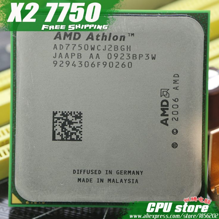 AMD Athlon 64 X2 7750 2.7GHz Dual Core Processor Socket AM2/AM2+ 940-pin cpu, 64-bit, 95W L3=2M, free shipping, sell 7850