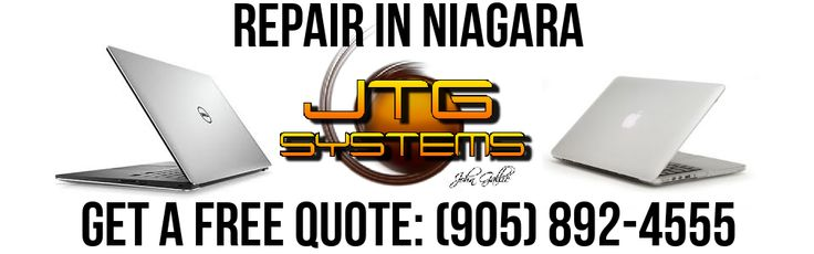 JTG Systems is your #1 for MacBook Pro Repair in Niagara. We specialize in computer repair and Mac / Apple repair, data recovery and Niagara Computer Repair. Call our office at (905) 892-4555 for one of our professional computer repair technicians to help you with your computer, laptop repair, Mac or other computer problem.