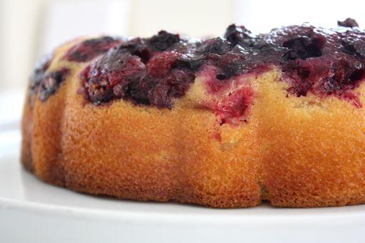kam's lemon, blueberry and raspberry bundt cake via 3polkadots