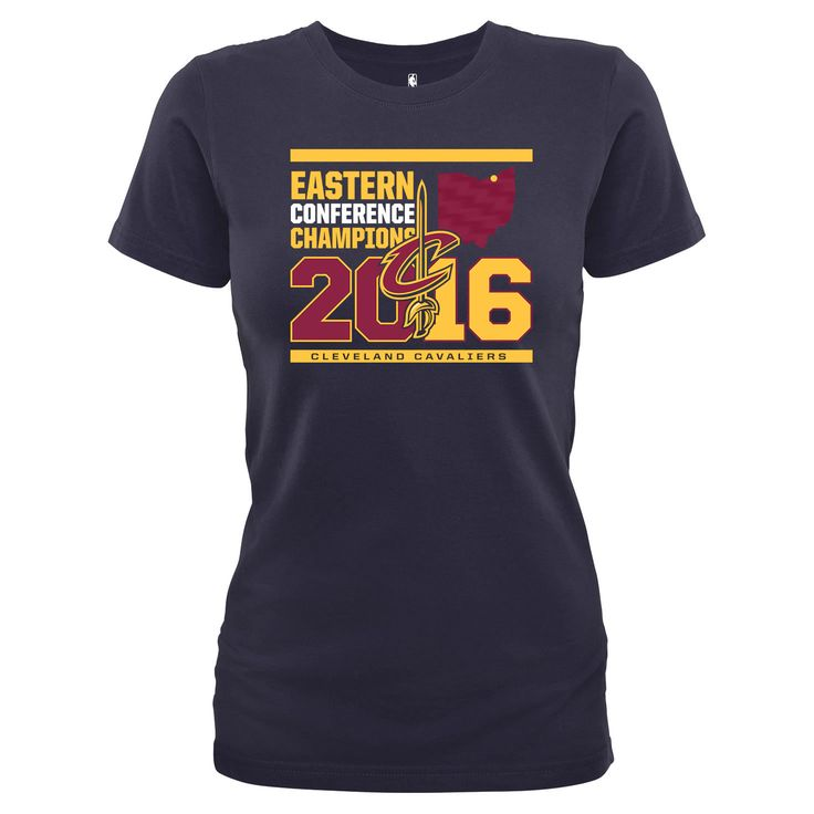 Cleveland Cavaliers Women's 2016 Eastern Conference Champions T-Shirt - Navy - $24.99