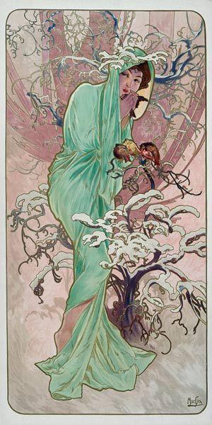 Alphonse Mucha - Saisons : l'hiver