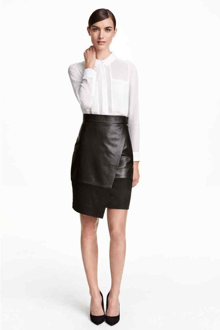 Kopertowa spódnica ze skóry | H&M