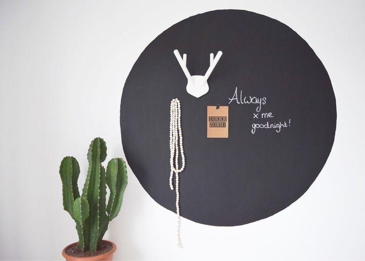binnenkijken bij eengoedverhaal - DIY krijtbord in de slaapkamer