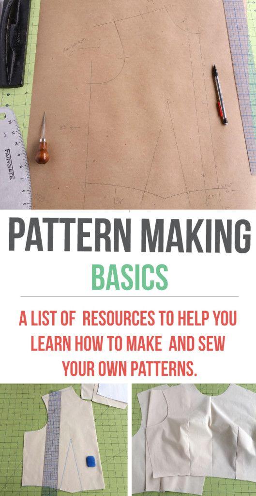 A list of pattern making resources | www.isntthatsew.org parece  una buena pagina desde donde aprender lo mas basico, desde el uso de herramientas hasta hacer patrones.